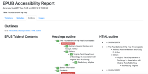 Sample Ace accessibility report