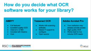 OCR software summary