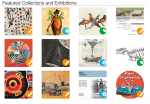 Graphic showing Smithsonian's featured collections