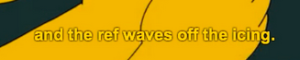 Yellow captions against yellow background example