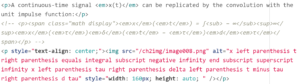 HTML showing alt text for math function