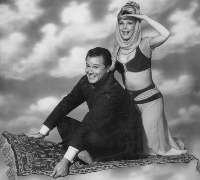 Photograph of the I Dream of Jeannie cast