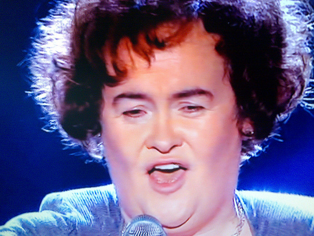 Photograph of Susan Boyle performing on Britain's Got Talent